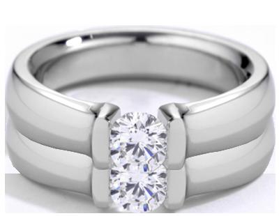 Platinum Blocks & Platinum Diamond Ring